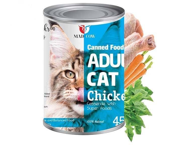 کنسرو گربه بالغ 400 گرمی با طعم مرغ