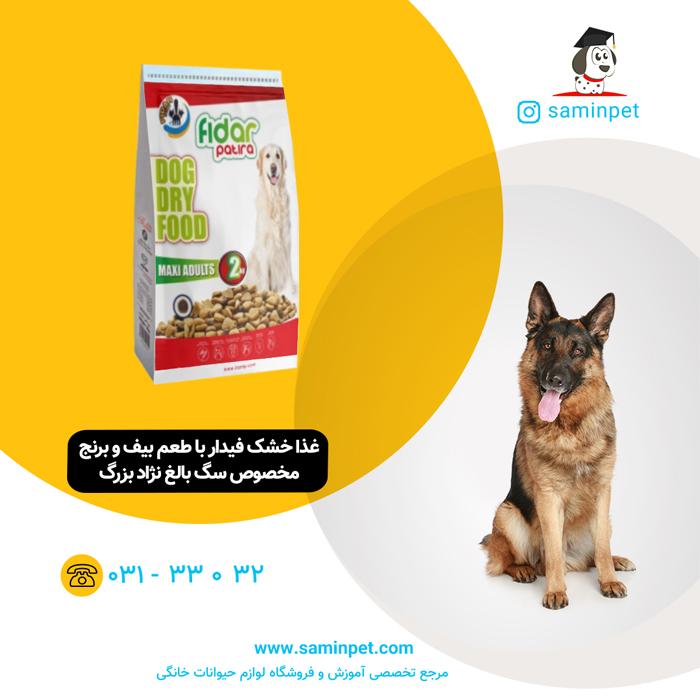 غذا خشک فیدار مخصوص سگ بالغ نژاد بزرگ