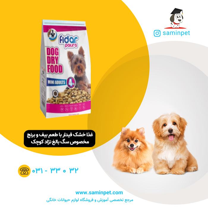 غذا خشک فیدار مخصوص سگ بالغ نژاد کوچک