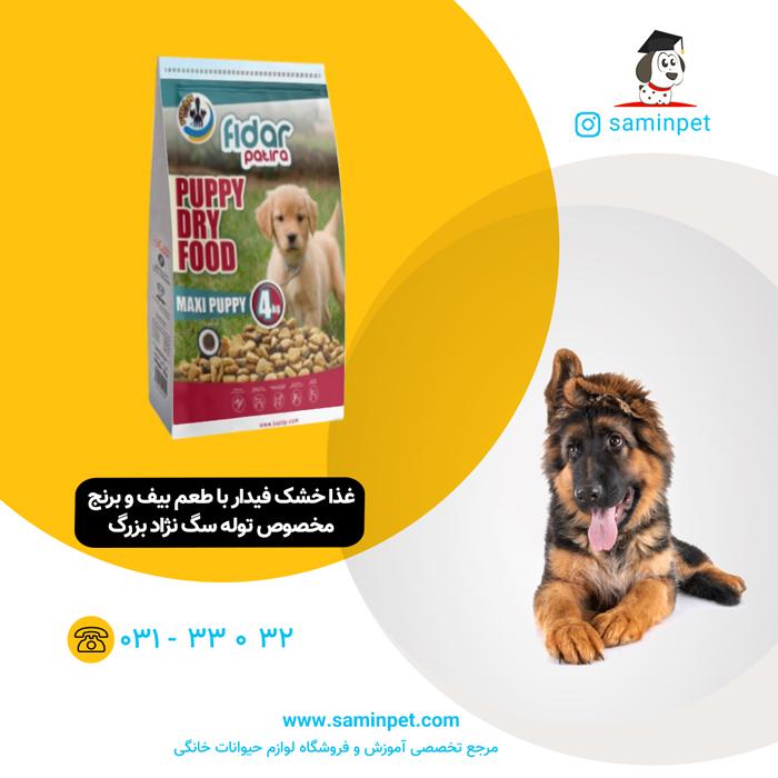 غذا خشک فیدار مخصوص توله سگ نژاد بزرگ