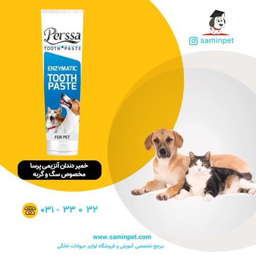 خمیر دندان آنزیمی پرسا برای سگ و گربه