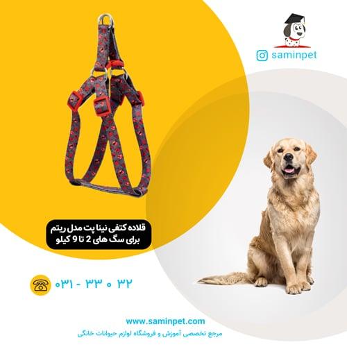 قلاده کتفی نینا پت مدل ریتم برای سگ 2 تا 9 کیلو