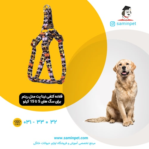 قلاده کتفی نینا پت مدل ریتم برای سگ 5 تا 15 کیلو