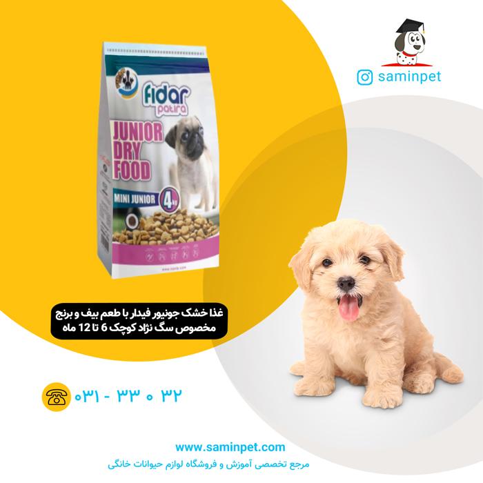 غذا خشک فیدار جونیور سگ نژاد کوچک