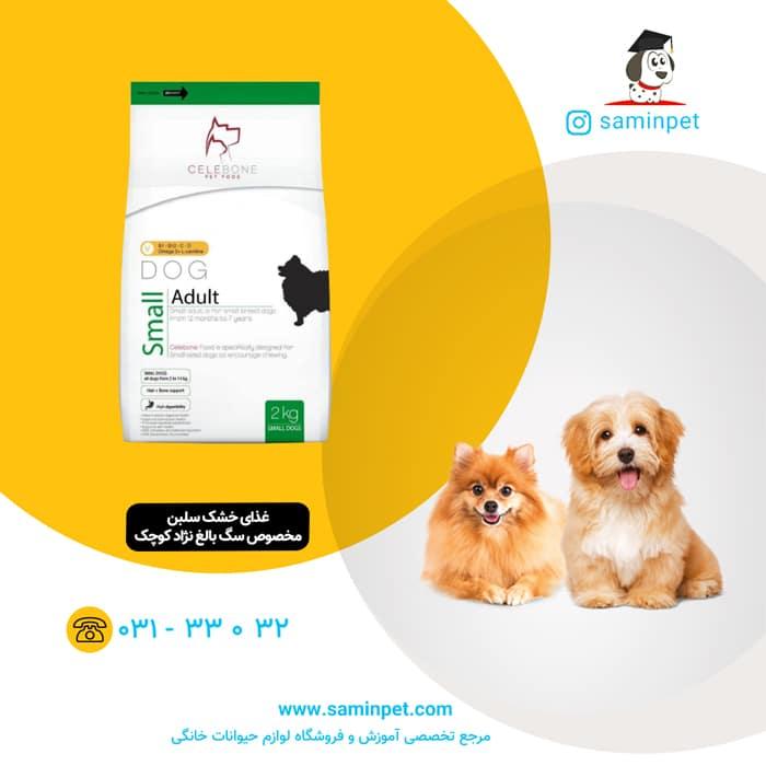 غذای خشک سلبن مخصوص سگ بالغ نژاد کوچک