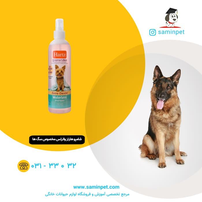 شامپو هارتز بدون نیاز به آب مخصوص سگ